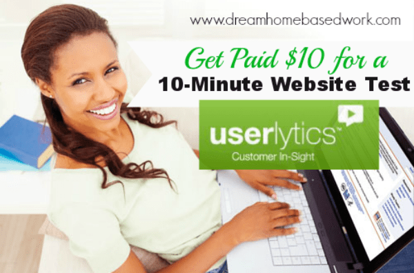 Get Paid $10 for Testing Websites with Userlytics