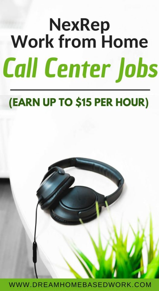 NexRep Work from Home Call Center Jobs (Earn Up To $15 Per Hour)