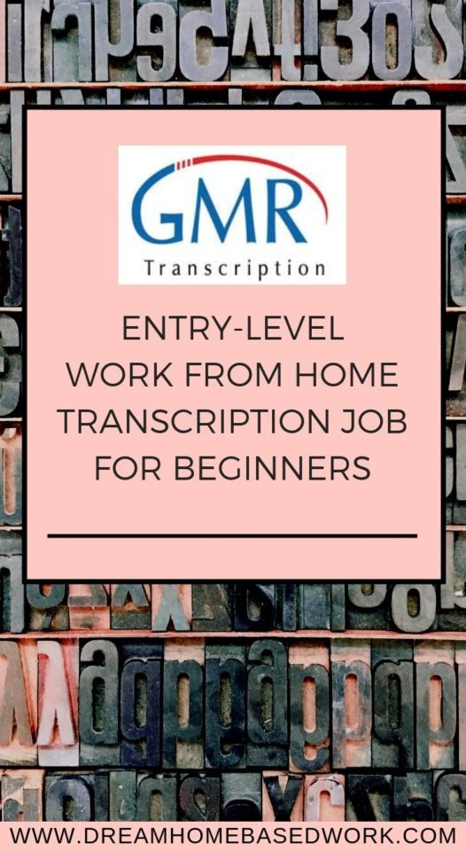 Need a beginner #workfromhome transcription job? If you're looking for a solid position doing entry-level transcription with the potential to make a full-time income, you'll definitely want to consider GMR transcription.