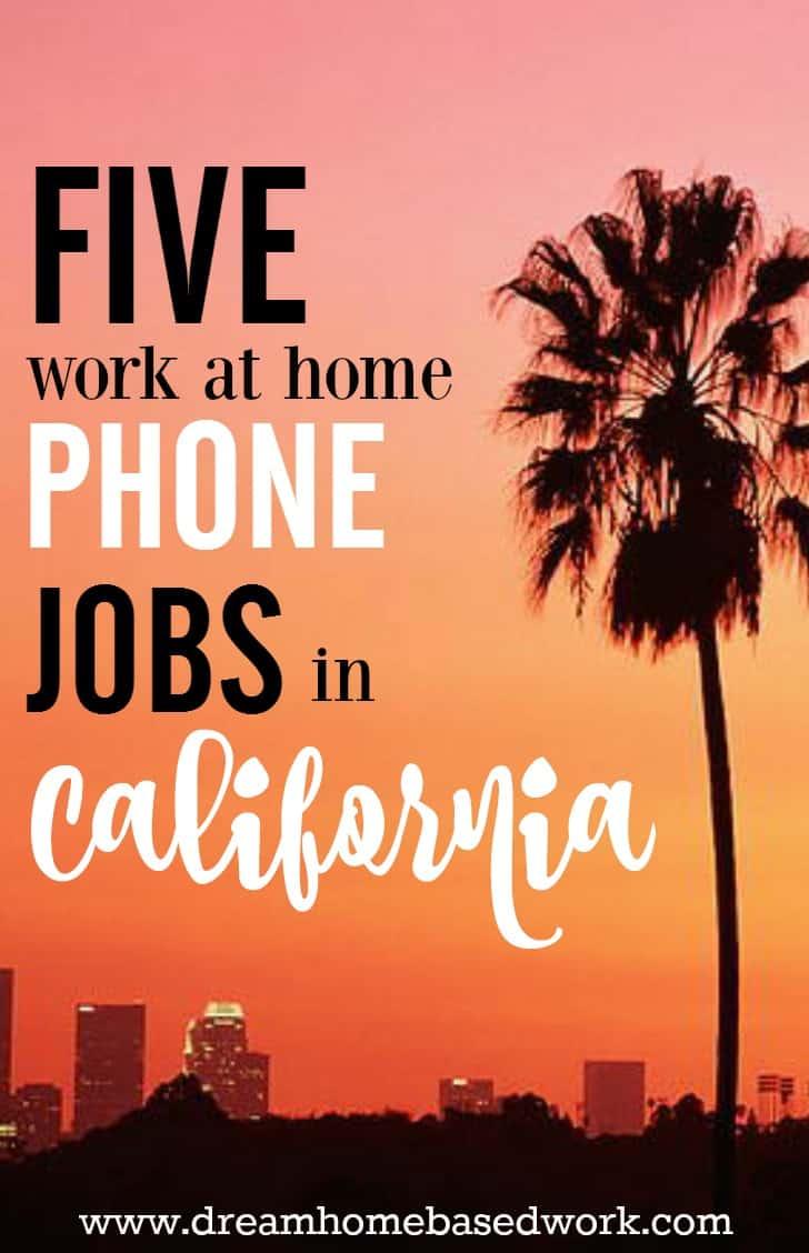 Work From Home Call Center Jobs California