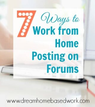 7 Ways to Work from Home Posting on Forums