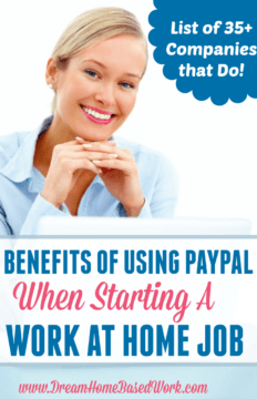 Benefits of Using Paypal When Starting a Work at Home Job