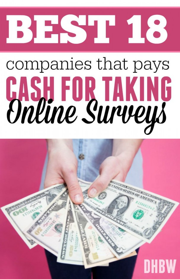 Best 18 Companies That Pays Cash For Taking Online Surveys
