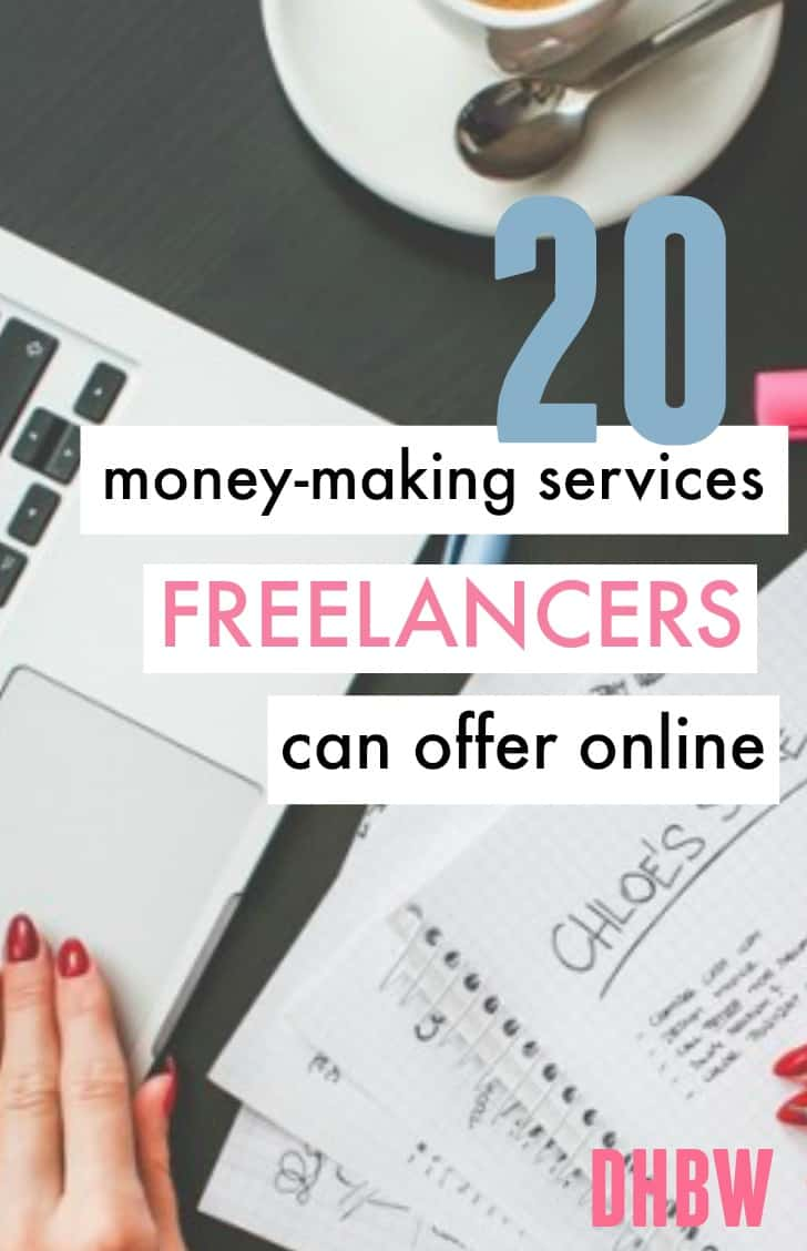 There are a number of jobs that freelancers can get online and get good pay when done right. Here's 20 money-making services freelancers can offer online.