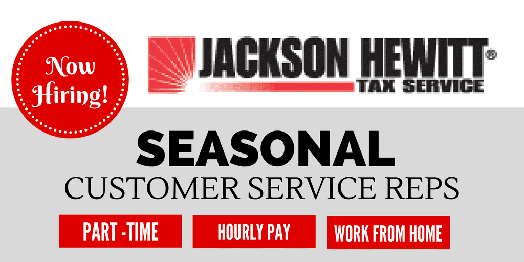 Seasonal Work from Home Customer Service Reps at Jackson Hewitt