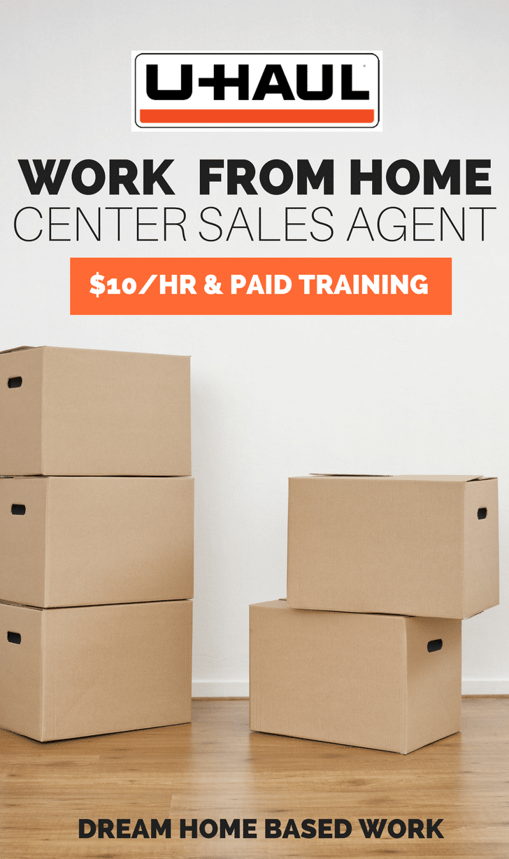 Uhaul Hiring Seasonal Work from Home Center Sales & Reservation Agents - $10/hr plus paid training and bonuses.