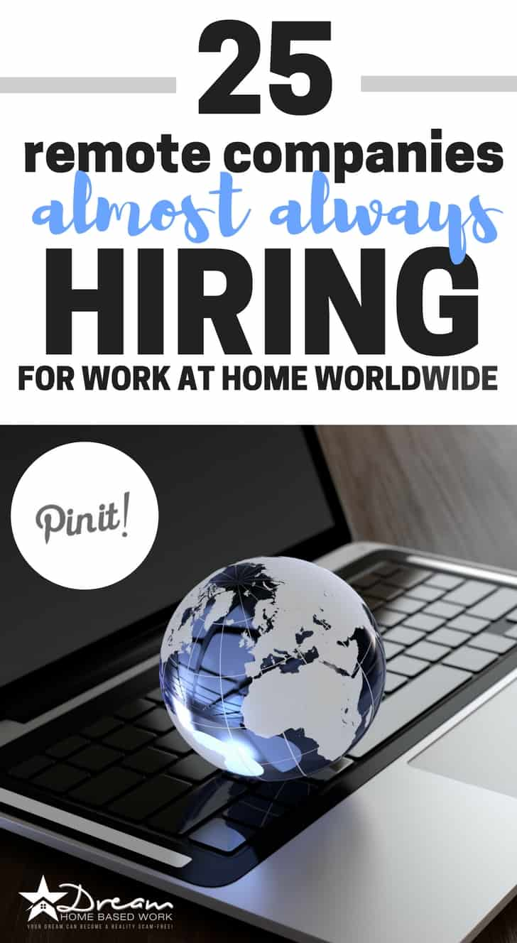 25+ Remote Companies Almost Always Hiring for Work at Home Nationwide