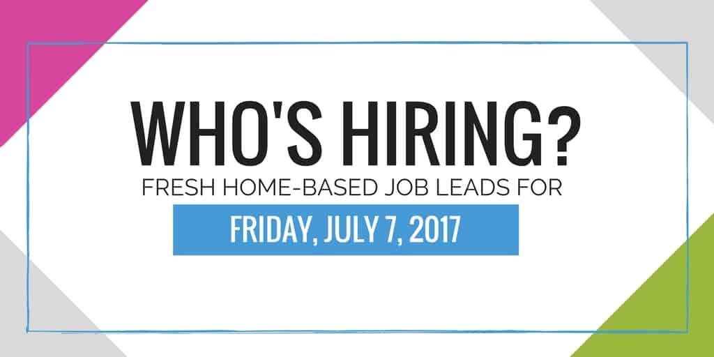 Fresh Home Based Job Leads - Dream Home Based Work